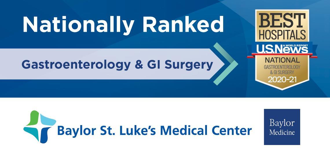 Nationally Ranked USNWR Gastroenterology and GI Surgery