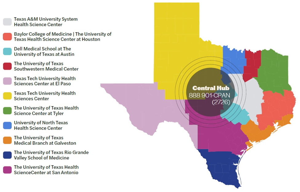 Brought to Texas by the creation of the Child Mental Health Care Consortium through Senate Bill 11 in 2019.