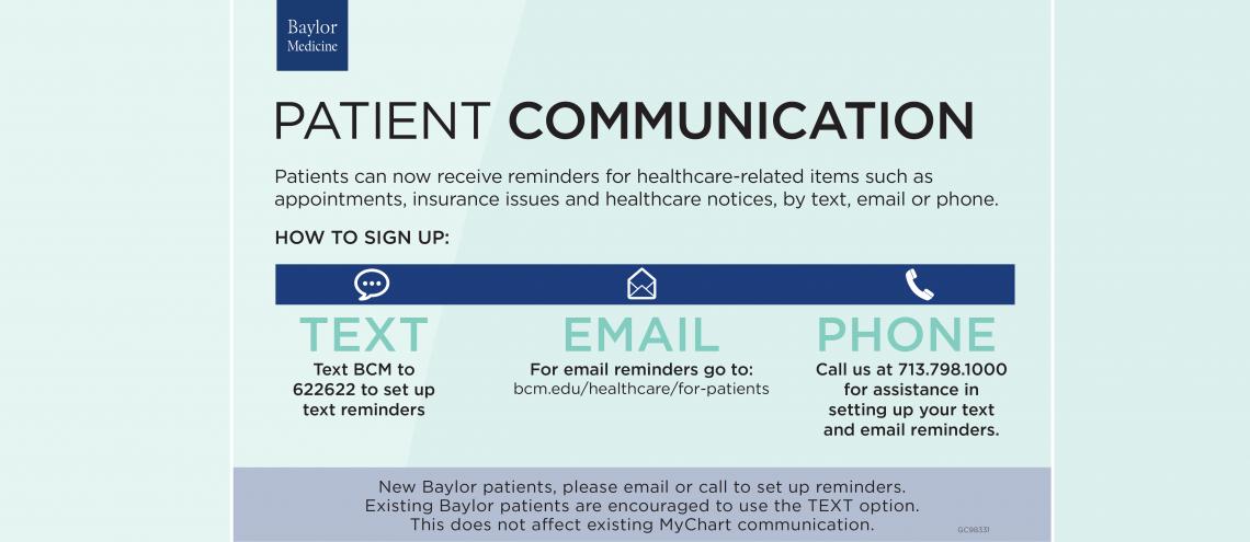 Patient communication card