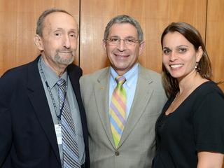 Dr. Brody and Dr. McGuire with Baylor College of Medicine President Dr. Paul Klotman.