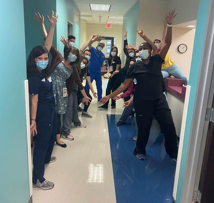 Pediatric residents at the Pasadena Clinic
