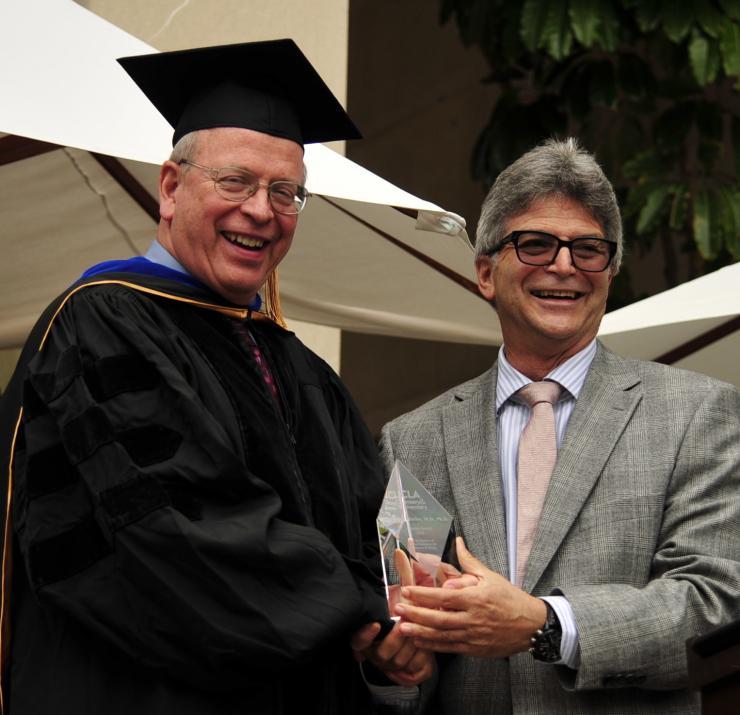 Richard Buller Receiving the UCLA Dept of Chemistry & Biochemistry Alumus of the Year Award 2016