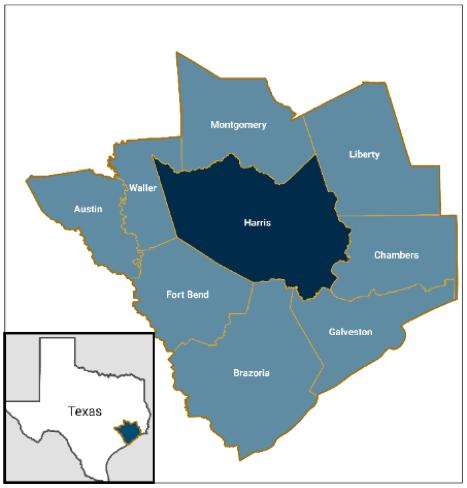 DLDCCC catchment area map