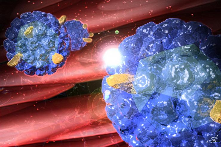 Virus-like particles by Scott Holmes, CMI