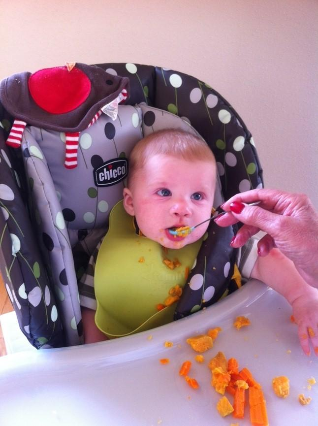 Parent feeding Child