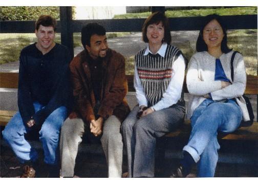 Left to Right: Rick Deibler, Mathew Joseph, Lynn Zechiedrich, Shirley Yang