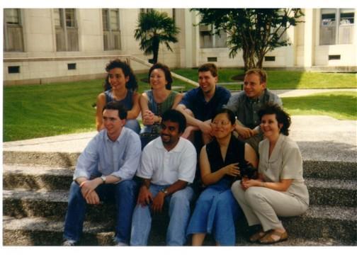 Front, Left to Right: Paul Sykes, Mathew Joseph, Shirley Yang, Merry Maynard | Back, Left to Right: Sonia Rahmati-Clayton, Lynn Zechiedrich, Rick Deibler, Jason Felton