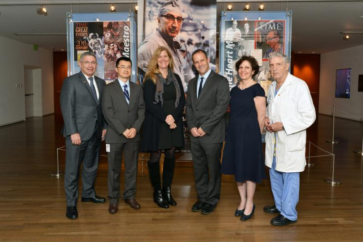 Left to right: Dr. Paul Klotman, Dr. Xi Lin, Dr. Kjersti Aagaard, Dr. Ben Deneen, Dr. Farrah Kheradmand and Dr. George Noon (Not pictured: Dr. Oliver Lichtarge)