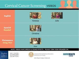 cervical cancer screening videos 2015