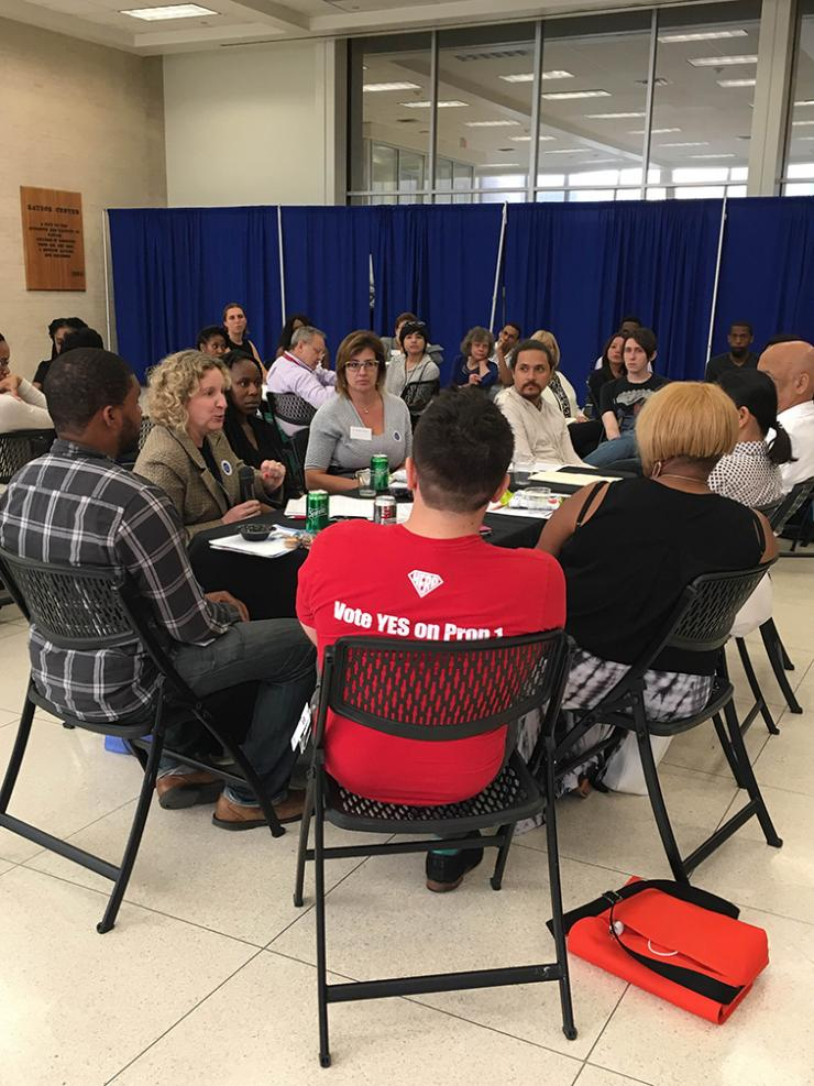 Faculty, staff and trainees talk about issues facing our country and world at a Compassionate Conversation.