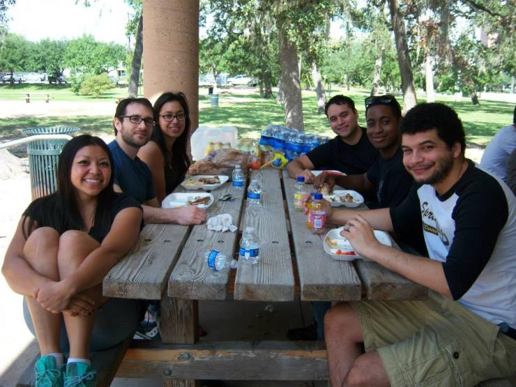 Cookout with BCM SMART students