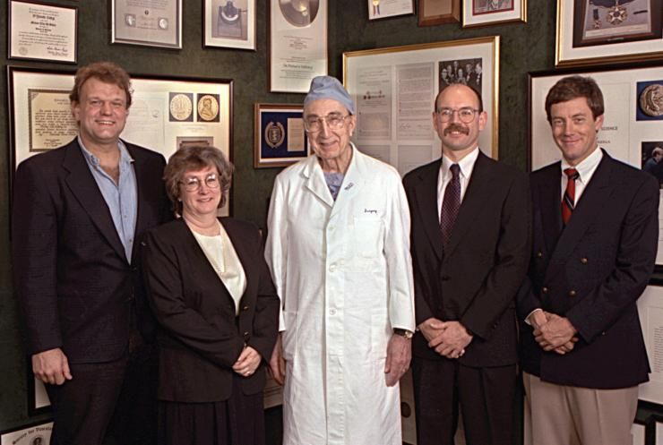 Winners of the 1995 Michael E. DeBakey, M.D., Excellence in Research Awards.