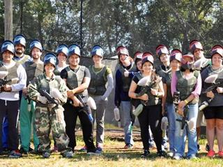 Deneen lab paintball match
