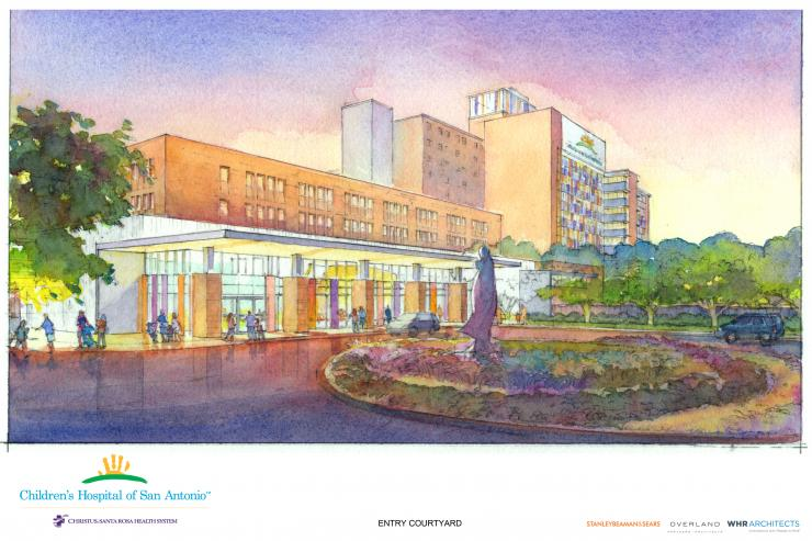 An artist rendering of the Children's Hospital of San Antonio.