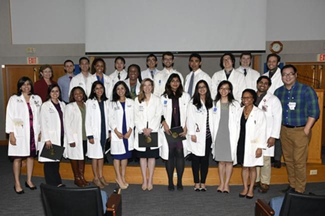 Members of the Baylor College of Medicine Gold Humanism Honor Society Resident Chapter.
