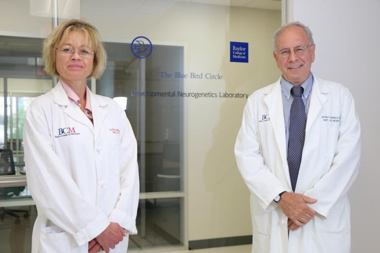 Dr. Alica Goldman, associate professor of neurology and neurophysiology and Dr. Jeffrey L. Noebels, professor and director of the Blue Bird Circle Developmental Neurogenetics Laboratory at Baylor College of Medicine.