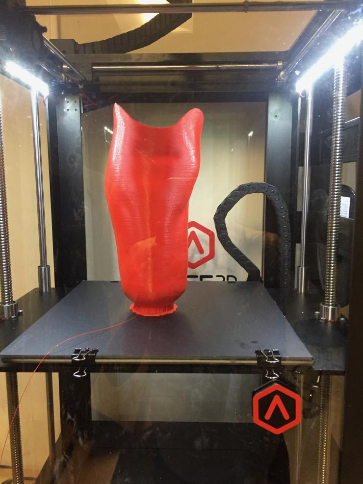 The use of 3D scanning and printing for medical devices is one of the many areas of research pursued by faculty and students in the O & P program.