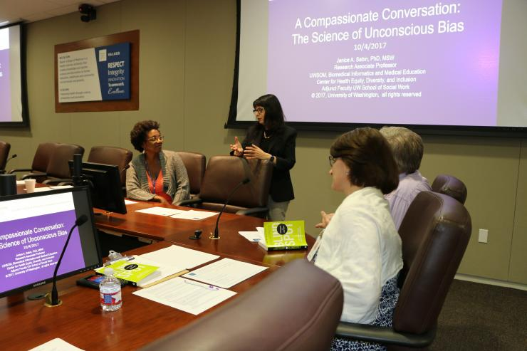 Janice Sabin, Ph.D., MSW, research associate professor at the University of Washington School of Medicine