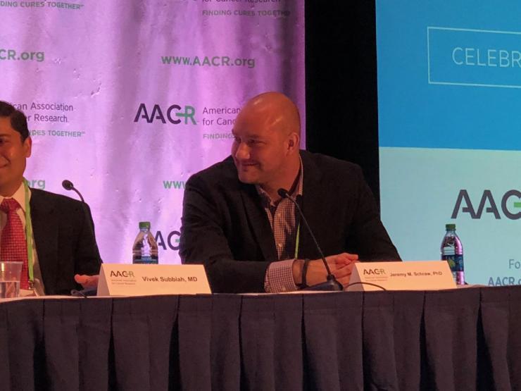 Integrative Cancer Epidemiology Postdoc Jeremy Schraw presents at AACR