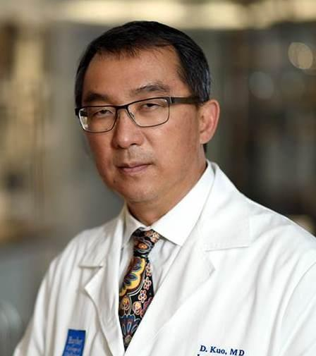 Dr. Kuo, white coat