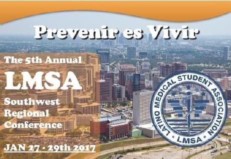 Image of the conference logo for the 5th LMSA Southwest Regional Conference held Jan. 27-29, 2017.