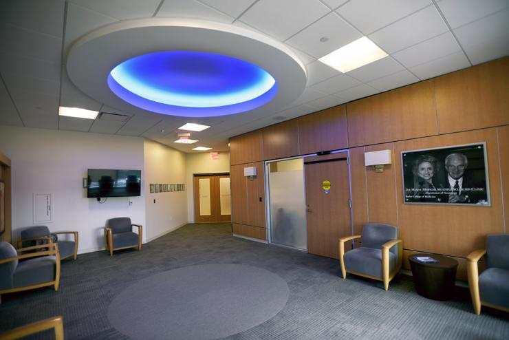 Waiting area of the Maxine Mesinger Multiple Sclerosis Clinic
