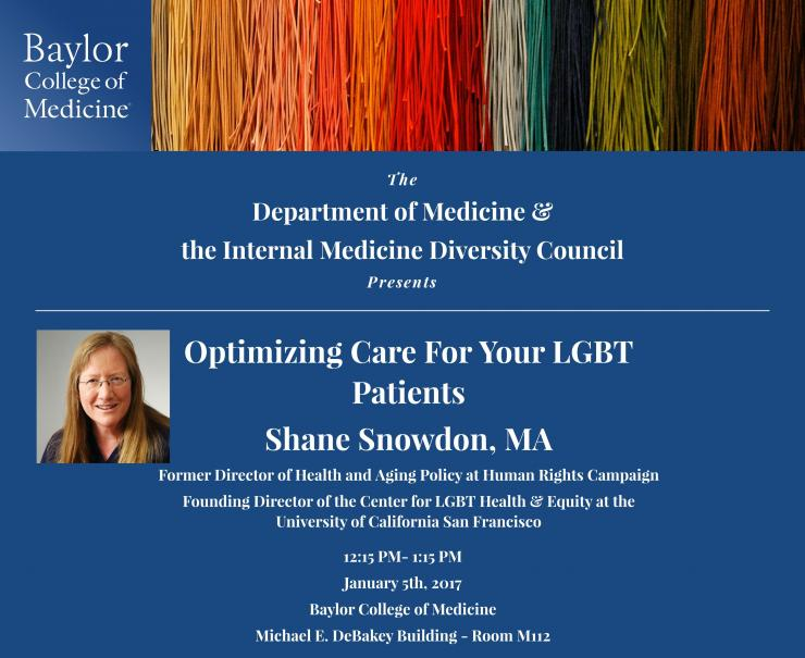 Flyer containing information about January 5th, 2017 lecture sponsored by Department of Medicine.