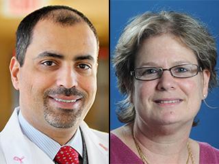 Dr. Mothaffar Rimawi and Dr. Rachel Schiff