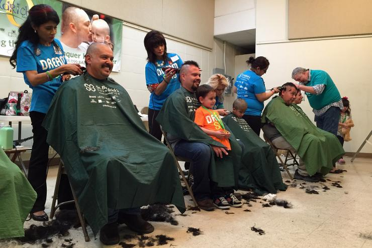 St. Baldrick's signature head-shaving events are its chief fundraisers.
