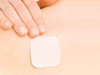 This thin patch placed on the skin releases hormones to prevent pregnancy.