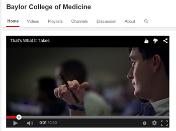 Baylor College of Medicine's Youtube Channel.