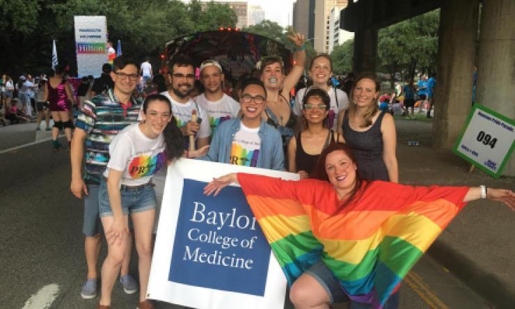 Students at Pride Parade