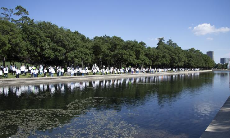 White coats for black lives protest