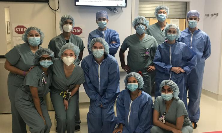 Obstetrics and Gynecology residents work as a team as they prepare to provide the best care possible to their patients.