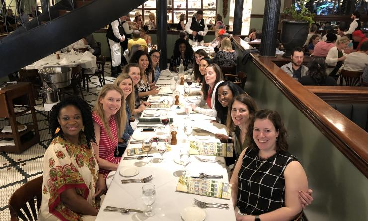 Pediatric and Adolescent Gynecology team dinner.