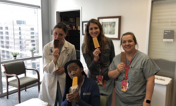 Pediatric and Adolescent Gynecology team taking an ice cream break.