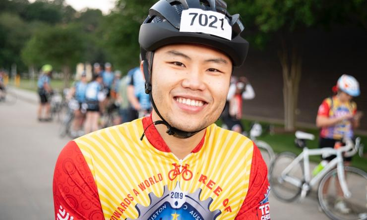 Child neurology resident taking part in the MS150
