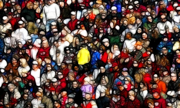 Abstract crowd scene