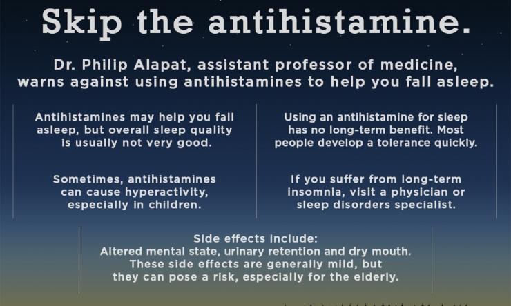 Antihistamine info graphic