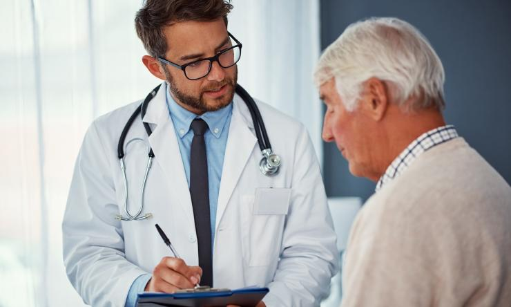 Clinic patient stock image