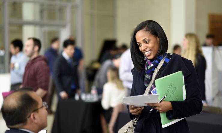 Networking at 2017 Career Development Symposium