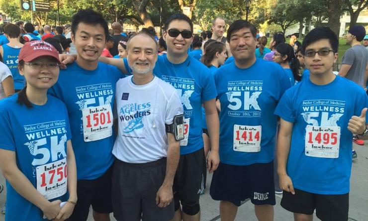 Graduate students at the BCM 5K Wellness Walk/Run.