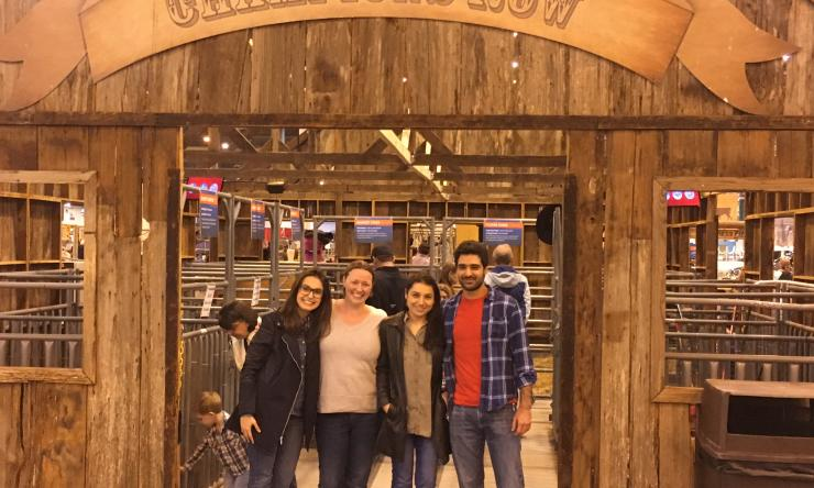 Bouchier-Hayes Lab members at the Houston Rodeo