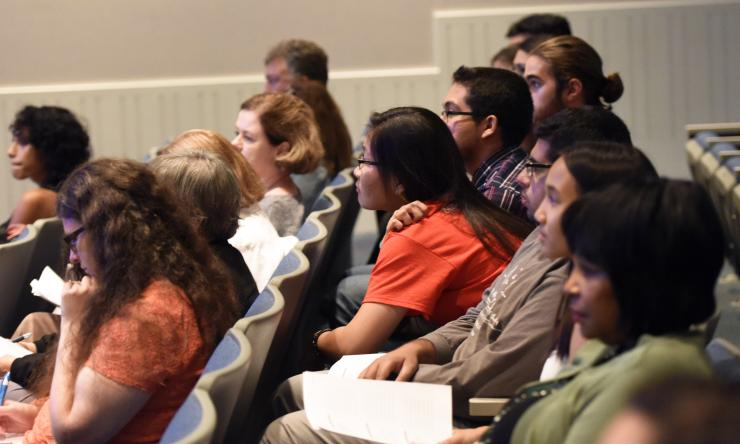 Audience members at a recent Evenings with Genetics event.