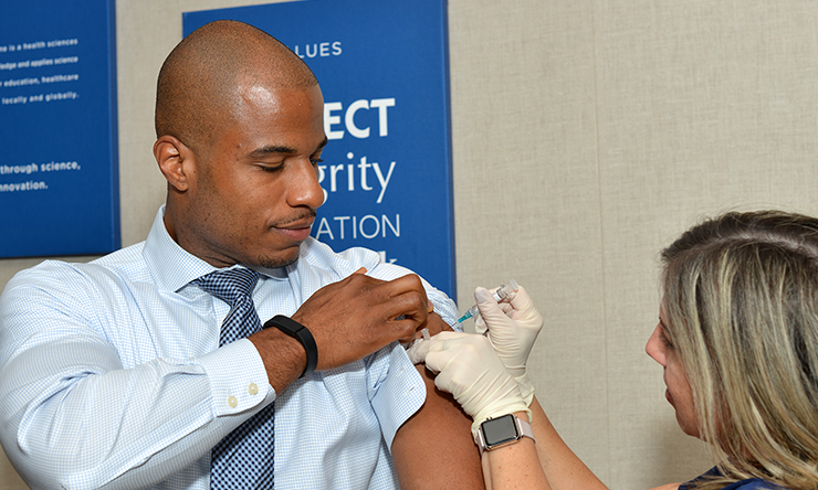 Beginning this fall, it's important to get vaccinated soon against influenza, according to Dr. Robert Atmar.