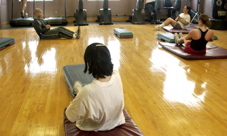 yoga class in gym