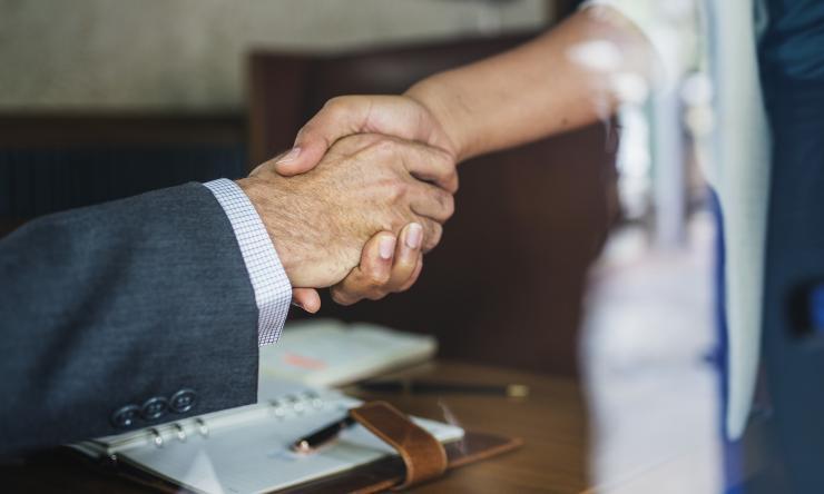 Hand shake business