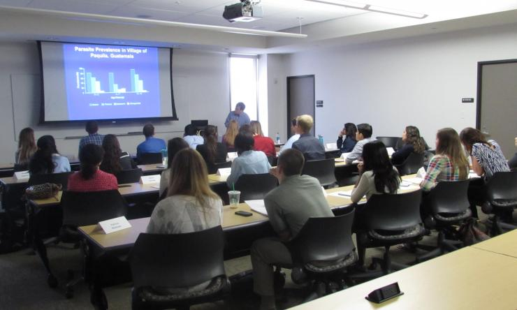 Dr. Peter Hotez teaching at course for Diploma in Tropical Medicine
