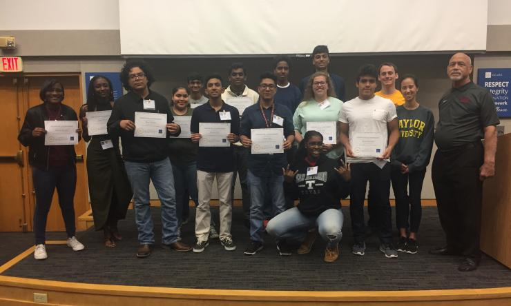 Dr. Phillips and graduates of the 2017 class of the Saturday Morning Science Program.