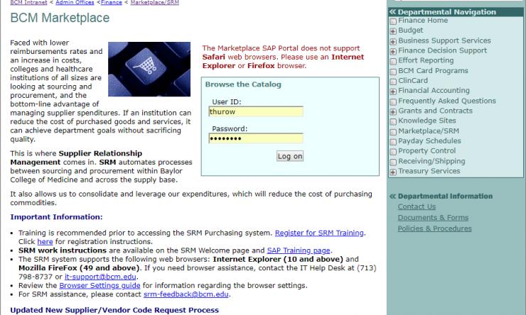 Marketplace screen shot